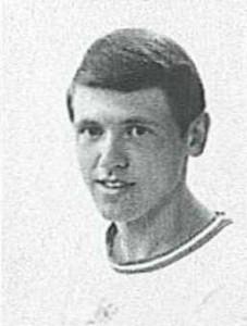 1965, Johan Derksen als bewoner van het jeugdhuis aan de Brinkgreverweg