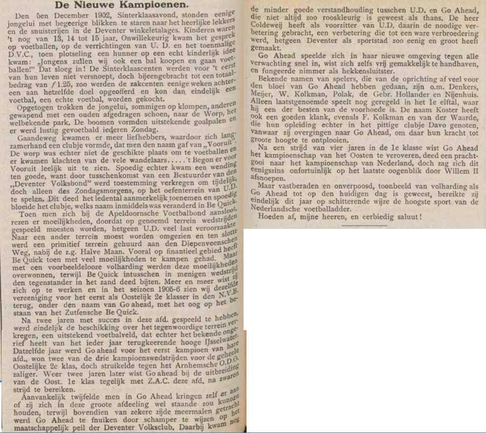 Uit 'Het Sportblad', van juni 1917