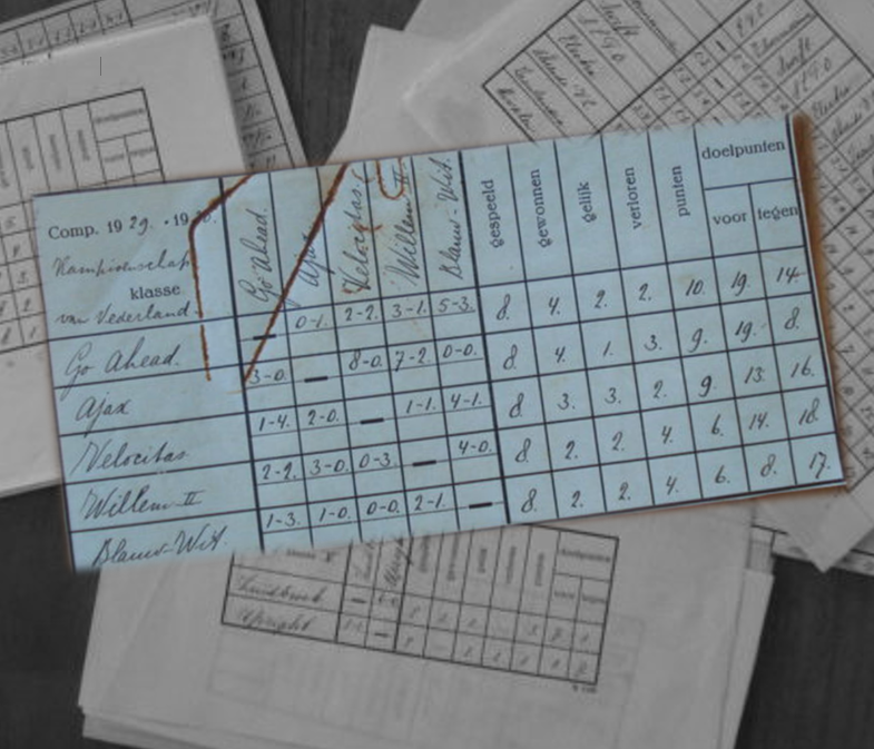 Originele standenlijsten N.V.B. 1930.