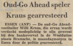 Kraus gearresteerd