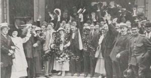 1916. Huldiging Willem II voor de stadsschouwburg te Deventer